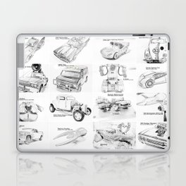 Sketched MovieRepliCars Laptop & iPad Skin