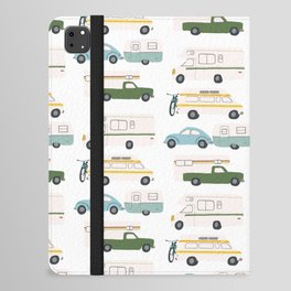 Vintage RV Motorhome Trailers Campers iPad Folio Case