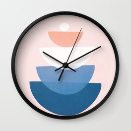 Abstract Stack V Wall Clock