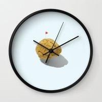 flag Wall Clocks featuring Flag by jaxsun