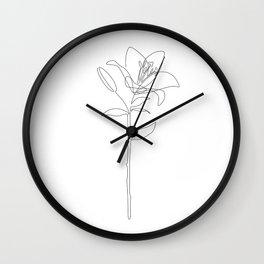 Fill Lily Wall Clock