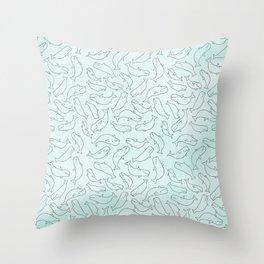 Belugas party Throw Pillow