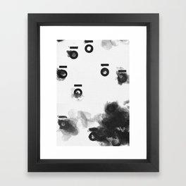 Keyhole Inkblots (Portrait) Framed Art Print