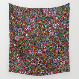 Wild Garden Color Wall Tapestry