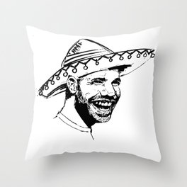 Drake in Sombrero Throw Pillow