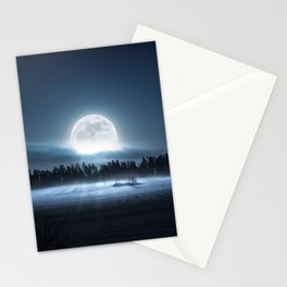 When the moon wakes up Stationery Cards