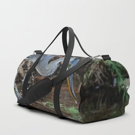 Great Blue Heron Fishing - III Duffle Bag