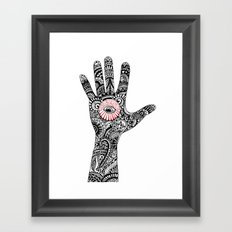 hand that feeds Framed Art Print