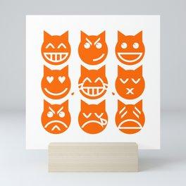The 9 Lives of the Emoji Cat Mini Art Print
