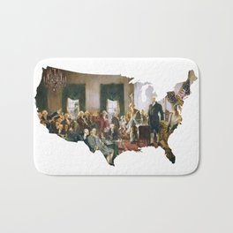 USA MAP The Signing of the Constitution of the United States Bath Mat
