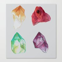 minerals Canvas Prints featuring Minerals (2) by MollyAlyce