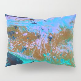 Ultra Violet Abstract Bat Painting by Noora Elkoussy Pillow Sham