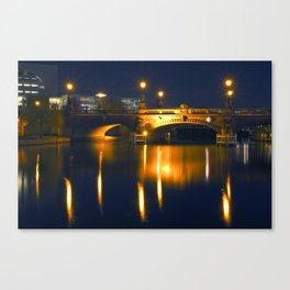 BERLIN NIGHT on the RIVER SPREE Canvas Print