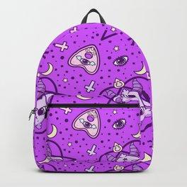 kawaii baphomet pattern lilac Backpack