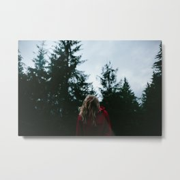 SHE IS THE TREES Metal Print