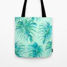 Paradise Palms Mint Tote Bag