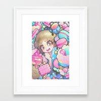 barachan Framed Art Prints featuring makokashi by barachan