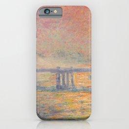 Charing Cross Bridge (Saint Louis), Claude Monet iPhone Case