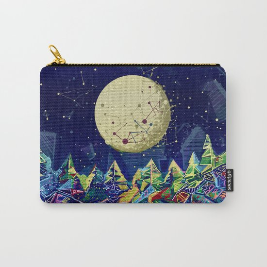 abstract forest Carry-All Pouch