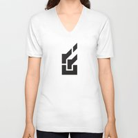 lantern V-neck T-shirts featuring Lantern by Flame