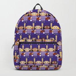 Baseball Purple - Super cute sports stars Backpack