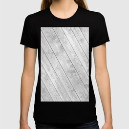 Rustic country white gray abstract wood  T-shirt