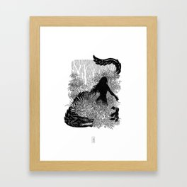 In the Deep Deep Woods Framed Art Print