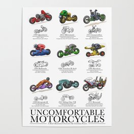 Uncomfortable Motorcycles Poster