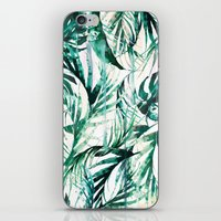 tropical iPhone & iPod Skins featuring Green Tropical paradise  by Nikkistrange