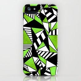Geometric Green iPhone Case