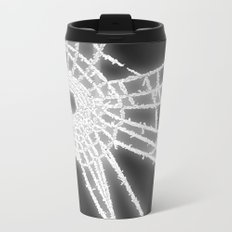 Surrealistic Spider Web Metal Travel Mug