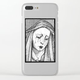 Crying Virgin Clear iPhone Case