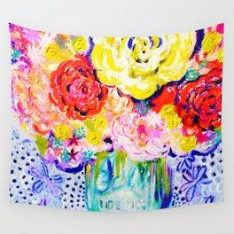 My Best Friend's Flowers Wall Tapestry