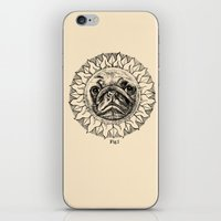 astronomy iPhone & iPod Skins featuring Astronomy Pug by beart24