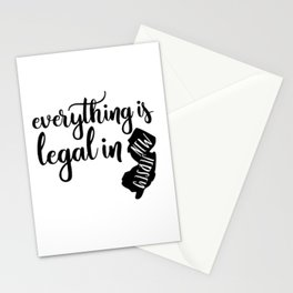 EVERYTHING IS LEGAL Stationery Cards