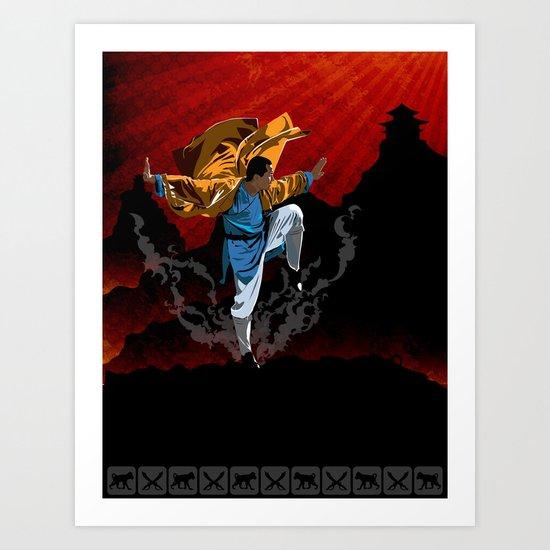 Shaolin Kung Fu Art Print