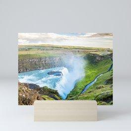 Gullfoss Waterfall in Iceland Mini Art Print