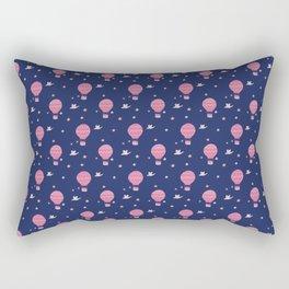 Dreaming of Hot Air Ballooning - Navy Rectangular Pillow
