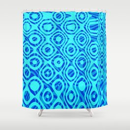 Mixed Polyps Blue - Coral Reef Series 036 Shower Curtain