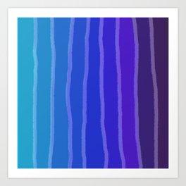 Vertical Color Tones #3 Art Print