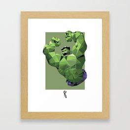 Hulk Polygon Mesh Framed Art Print