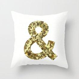 Ampersand Gold Sequins Throw Pillow