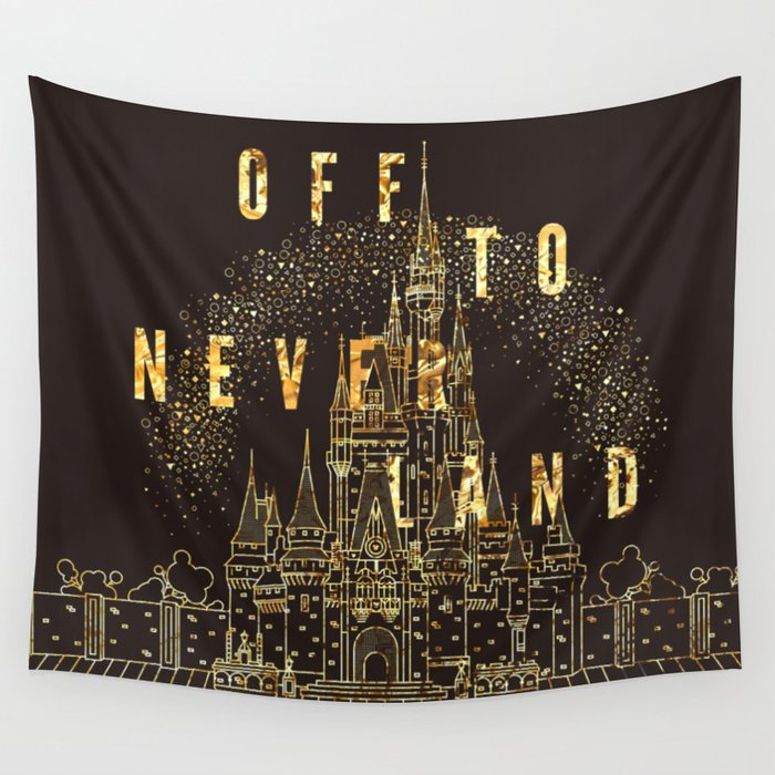 Off to Neverland Wall Tapestry