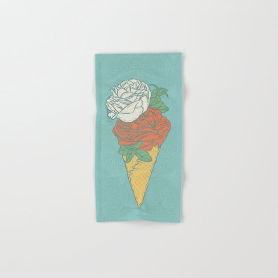 Rose ice cream Hand & Bath Towel