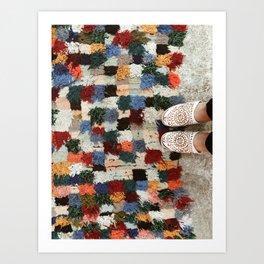 Moroccan Rugs Art Print