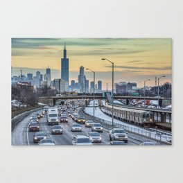 Rush Hour Sunset Canvas Print