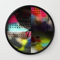 acid Wall Clocks featuring acid by AcerbicAndrewArt
