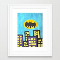 bat Framed Art Prints featuring Bat by Marialaura