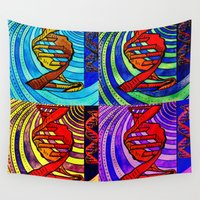dna Wall Tapestries featuring DNA by Art By Carob