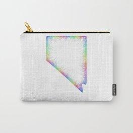 Rainbow Nevada map Carry-All Pouch